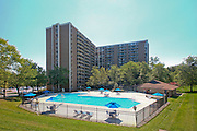 Architectural photography of Towers of Westchester Park Apartments in College Park MD by Jeffrey Sauers of Commercial Photographics.