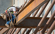Construction crews work on the new Sterling High School, July 9, 2015., June 25, 2015.