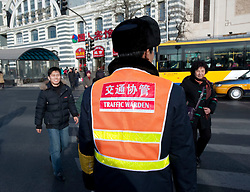 Traffic warden in Beijing in 2009