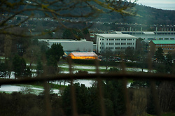 Pictured: Kings Buildings from Braid Hills Drive<br /> <br /> Edinburgh was hit with snow this morning but there was at least one place in KIngs Buildings that look warm and inviting.l <br /> <br /> Ger Harley | EEm 16 January 2018