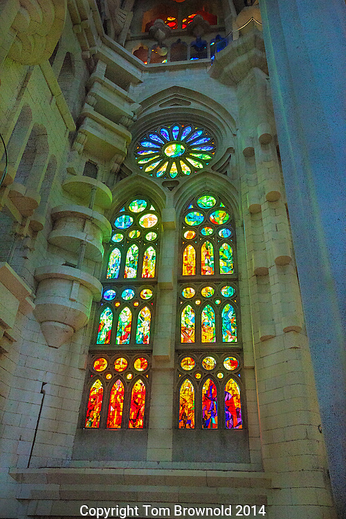 Stained Glass window in the Sagrada Familia
