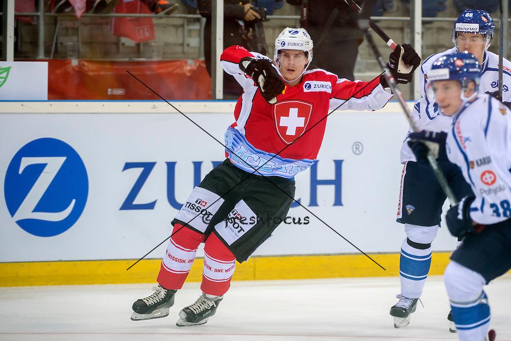 03.04.2015; Basel; Eishockey - Schweiz - Finnland;<br /> Joel Genazzi (SUI) <br /> (Andy Mueller/freshfocus)