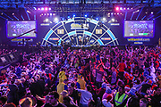 The main stage and arena during the PDC William Hill Darts World Championship at Alexandra Palace, London, United Kingdom on 13 December 2019.