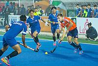 LUCKNOW (India) -  Thijs van Dam (NED) tijdens  de oefenwedstrijd tegen Korea voor de Junior  World Cup hockey men . COPYRIGHT KOEN SUYK