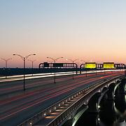 Oxon Hill, MD - August 8, 2017 - Woodrow Wilson Memorial Bridge. (Photo by Richie Downs)