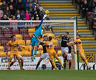 Dundee keeper Scott Bain tips away a cross at full stretch - Motherwell v Dundee, Fir Park, Motherwell, Photo: David Young<br /> <br />  - &copy; David Young - www.davidyoungphoto.co.uk - email: davidyoungphoto@gmail.com