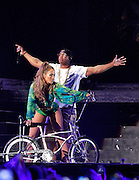 Jennifer Lopez and Ja Rule perform for the State Farm Neighborhood Sessions at Orchard Beach in The Bronx, New York on June 04, 2014.
