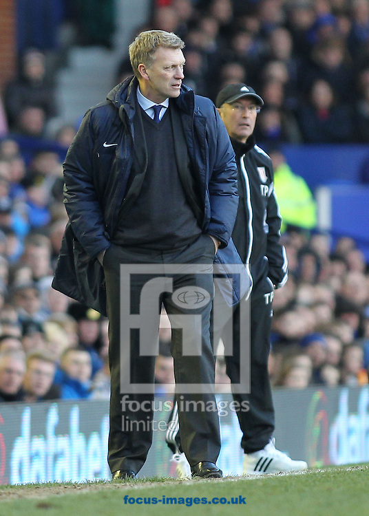 Picture by Michael Sedgwick/Focus Images Ltd +44 7900 363072.30/03/2013.David Moyes, manager of Everton on the touchline during the Barclays Premier League match against Stoke City at Goodison Park, Liverpool.
