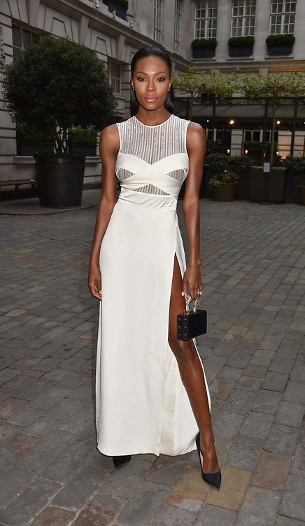 Afiya Bennett at the Nelson Mandela Foundation Gala Dinner, Rosewood, London England. 24 April 2018.