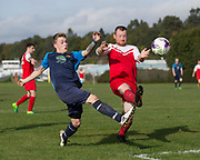 Sidlaw Athletic (blue) v Cleppy Social (red) - Dundee Saturday Morning Football League at University Grounds, Riverside<br /> <br /> <br />  - © David Young - www.davidyoungphoto.co.uk - email: davidyoungphoto@gmail.com