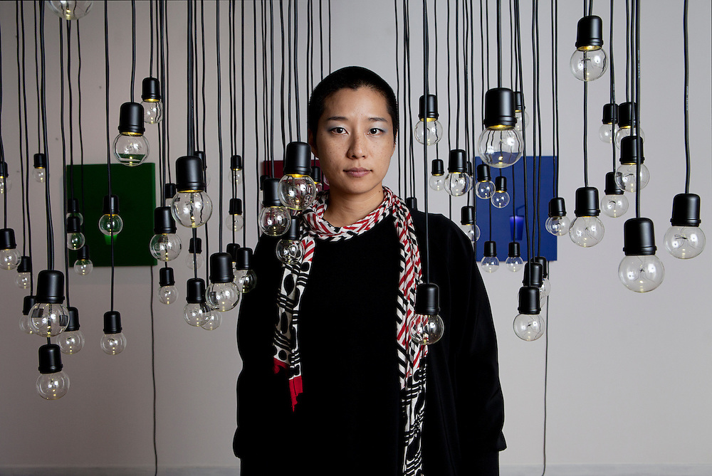 Milan, Italy, October 23, 2012. Ho jin Jung, Korean Artist and Director at Akka Studio, Art Gallery in Milan.