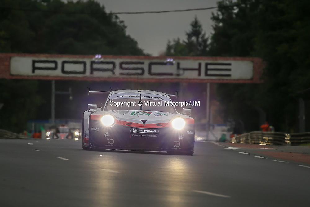 #94, Porsche Motorsport, Porsche 911 RSR, LMGTE Pro, driven by:  Romain Dumas, Timo Bernhard, Sven Muller, 24 Heures Du Mans  2018, , 14/06/2018,