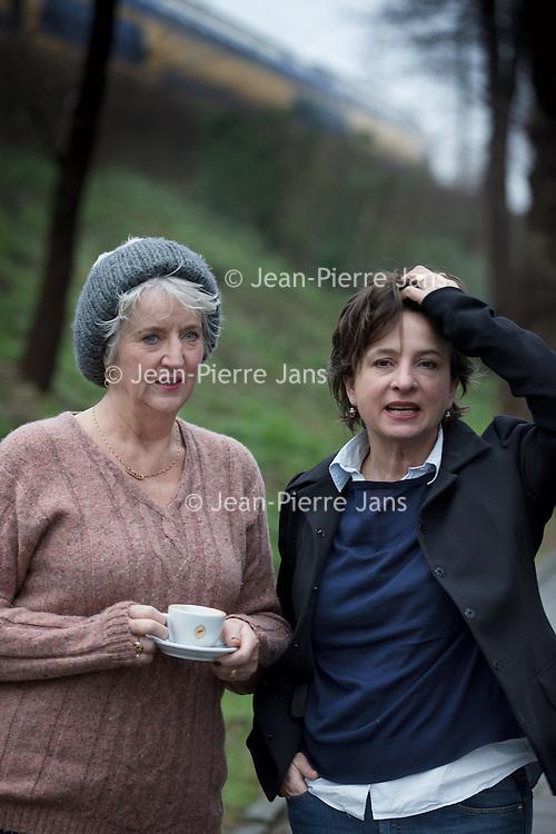 Nederland, Amsterdam, 24 januari 2016.<br /> Schrijfster Maria Goos en actrice Jacqueline Blom<br /> <br /> <br /> <br /> Foto: Jean-Pierre Jans