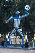 Auto parts sculpture, Adams County, Washington.