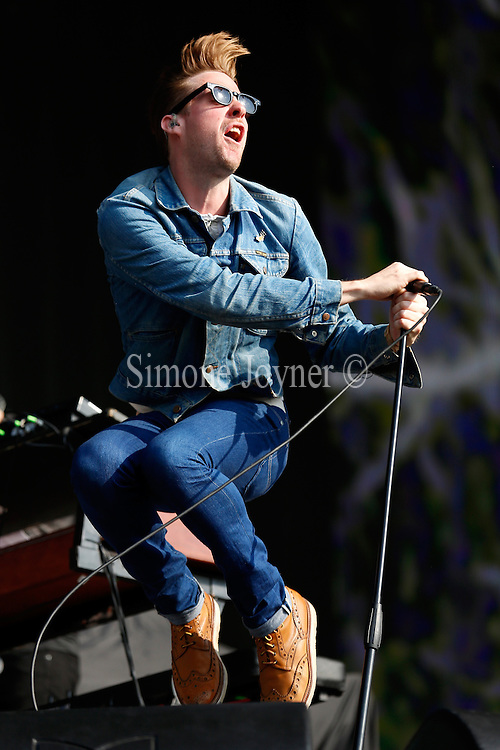 Ricky Wilson of the Kaiser Chiefs performs live on stage during day one of 'British Summer Time Hyde Park' presented by Barclaycard at Hyde Park on July 5, 2013 in London, England.  (Photo by Simone Joyner)