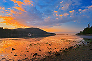 Sunrise at Fulford Harbour. Drummond Park., Saltspring Island (Gulf Islands), British Columbia, Canada