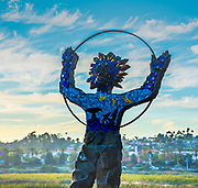 Mosaic Statue Greets Visitors to Hosp Grove Park In Carlsbad