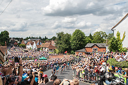 Stage 3 of the Tour de France passes through Finchingfield, Essex on its way from Cambridge to London, on 07 July 2014. Photo: Simon Parker