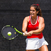 21 April 2018: The San Diego State women's tennis team hosts San Jose State to close out it's regular season schedule at home Saturday afternoon.<br />  More game action at sdsuaztecphotos.com