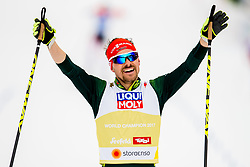 February 24, 2019 - Seefeld In Tirol, AUSTRIA - 190224 Fabian Riessle of Germany celebrates winning men's nordic combined team sprint during the FIS Nordic World Ski Championships on February 24, 2019 in Seefeld in Tirol..Photo: Vegard Wivestad GrÂ¿tt / BILDBYRN / kod VG / 170297 (Credit Image: © Vegard Wivestad Gr¯Tt/Bildbyran via ZUMA Press)