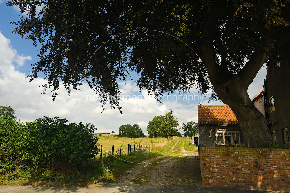 Beautiful views can be seen from all over the village of the rolling Wolds, Kilham village East Yorkshire