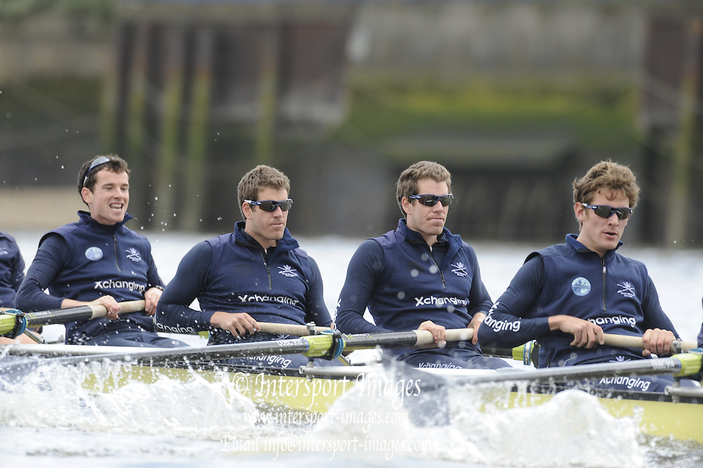 Putney, London, Oxford UBC left to right: Martin WALSH, Tyler WINKLEVOSS, Cameron WINKLEVOSS, Sjoerd HAMBURGER,  OUBC afternoon training session on the River Thames. Varsity, University Boat Race, Tideway Week, Tuesday  30/03/2010 [Mandatory Credit Peter Spurrier/ Intersport Images]