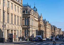 View along Chambers Street in Edinburgh, Scotland ,UK