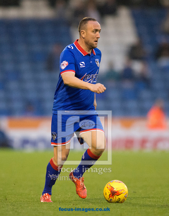 Lee Croft of Oldham Athletic during the Sky Bet League 1 match at Boundary Park, Oldham<br /> Picture by Russell Hart/Focus Images Ltd 07791 688 420<br /> 31/10/2015