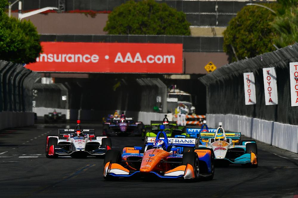 Scott Dixon, Chip Ganassi Racing Honda<br /> Sunday 15 April 2018<br /> Toyota Grand Prix of Long Beach<br /> Verizon IndyCar Series<br /> Streets of Long Beach, California USA<br /> World Copyright: Scott R LePage<br /> LAT Images