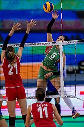 01-10-2017 AZE: CEV European Volleyball Azerbeidzjan - Turkije, Baku<br /> Turkije pakt de bronze medaille door het thuisland met 3-1 te verslaan / Odina Bayramova #5