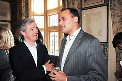 Left to right, BILL PRINCE Deputy Editor of GQ and ANTOINE PIN at a party to celebrate the publication of Imperial Bedrooms by Bret Easton Ellis held at Mark's Club, 46 Charles Street, London W1 on 15th July 2010.