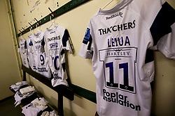 A general view of Bristol Bears dressing room at Leicester Tigers - Mandatory by-line: Robbie Stephenson/JMP - 04/01/2020 - RUGBY - Welford Road - Leicester, England - Leicester Tigers v Bristol Bears - Gallagher Premiership Rugby