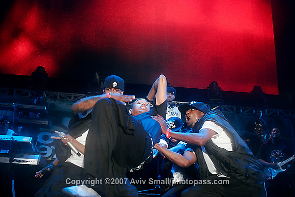Chris Brown performing at Giant's Stadium in East Rutherford New Jersey on June 3, 2007 during Hot 97's Summerjam 2007.