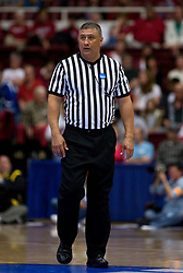 March 20, 2010; Stanford, CA, USA; NCAA referee Bryan Enterline during the second half of the game between the Iowa Hawkeyes and the Rutgers Scarlet Knights in the first round of the 2010 NCAA womens basketball tournament at Maples Pavilion.  Iowa defeated Rutgers 70-63.