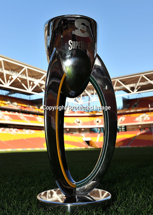 The new Super Rugby Trophy (18kg and 650mm high) ~ Thursday 7th July 2011 ~ before the Reds v Blues Super Rugby Final to be played at Suncorp Stadium on Saturday night ~ Photo : Steven Hight (AURA Images) / Photosport