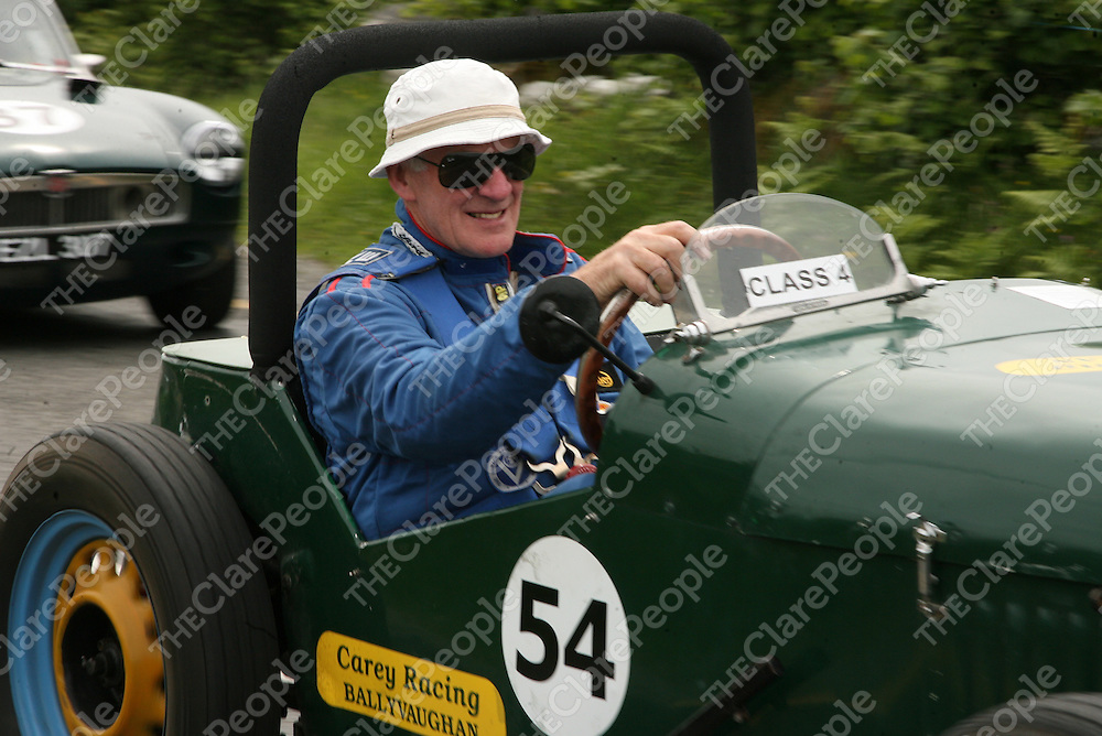 Donal Morrissey in his Ford Nota Special at the Corkscrew Hill hill climb outside Ballyvaughan on Saturday.<br />