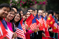 February 27, 2019 - Hanoi, Vietnam - Crowds await the departure of President Donald J. Trump, following his meetings with Nguyen Xuan Phuc, Prime Minister of the Socialist Republic of Vietnam, at the Office of Government Hall Wednesday, Feb. 27, 2019, in Hanoi. (Credit Image: © White House/ZUMA Wire/ZUMAPRESS.com)