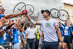 Primoz Roglic during reception of slovenian rider Primoz Roglic after Tour de France 2018 on August 6, 2018 in Ljubljana, Slovenia. Photo by Urban Meglic / Sportida