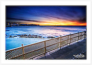Overlooking Bronte Baths bright and early on a wonderfully vivid Sydney morning [Bronte, NSW, Australia]<br />