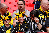 West Auckland fans during the FA Vase match at Wembley Stadium, London<br /> Picture by David Horn/Focus Images Ltd +44 7545 970036<br /> 10/05/2014