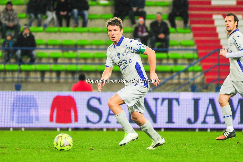 Yannick Cahuzac - 20.12.2014 - Caen / Bastia - 19eme journee de Ligue 1 <br /> Photo : Philippe Le Brech / Icon Sport