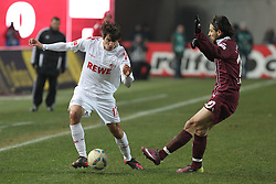 05.02.2012, Fritz Walter Stadium, Kaiserslautern, GER, 1. FBL, 1.FC Kaiserslautern vs 1.FC Koeln, 20. Spieltag, im Bild SERENO (1.FC Koeln) im Zweikampf mit Olcay SAHAN (1.FC Kaiserslautern), Aktion/ Action // during the German Bundesliga Match between 1.FC Kaiserslautern vs 1.FC Koeln at the Fritz Walter Stadium in Kaiserslautern, Germany, 2012/02/05. EXPA Pictures © 2012, PhotoCredit: EXPA/ Eibner/ Alexander Neis..***** ATTENTION - OUT OF GER *****