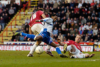 Photo: Leigh Quinnell.<br /> Bristol City v Middlesbrough. The FA Cup. 27/01/2007.<br /> Bristol Citys Jennison Myrie-Williams brings down Boros  Jason Euell in the area but a penalty is not given.
