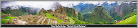 Machu Picchu - &quot;The Lost City of the Inca's&quot; in Peru<br /> <br /> Panoramic image created from 3 separate images