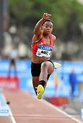 Keturah Orji (USA) places ninth in the women's triple jump at during the women's triple jump in the  Herculis Monaco in an IAAF Diamond League meet , Thursday, July 11, 2019, in Port Hercules, Monaco.(Jiro Mochizuki/Image of Sport)