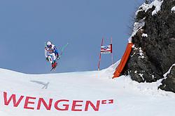 19.01.2013, Lauberhornabfahrt, Wengen, SUI, FIS Weltcup Ski Alpin, Abfahrt, Herren, im Bild Carlo Janka (SUI) // in action during mens downhillrace of FIS Ski Alpine World Cup at the Lauberhorn downhill course, Wengen, Switzerland on 2013/01/19. EXPA Pictures © 2013, PhotoCredit: EXPA/ Freshfocus/ Christian Pfander..***** ATTENTION - for AUT, SLO, CRO, SRB, BIH only *****