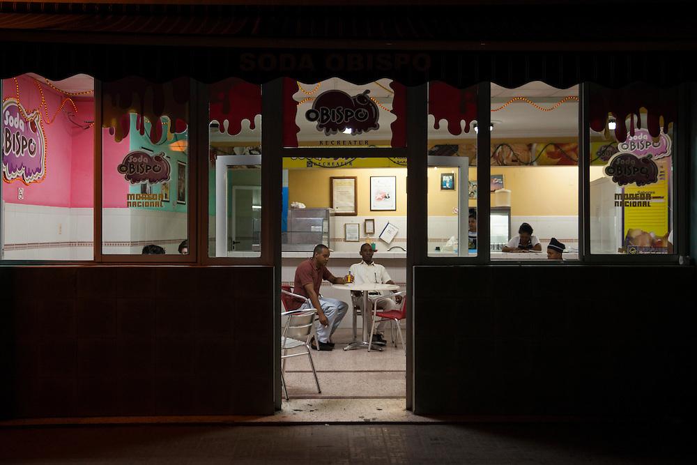 Local restaurant in Old Havana, Cuba.