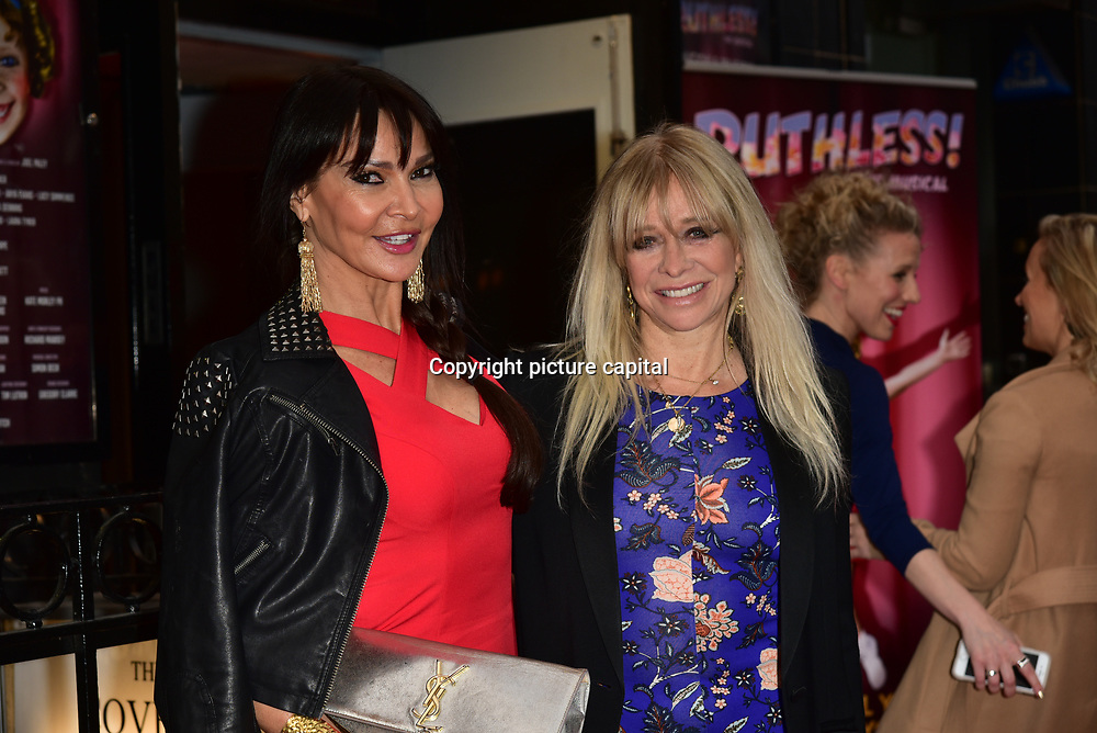 Lizzie Cundy,Barbara Eden arrives at Ruthless! The Musical - Arts Theatre opening night on 27 March 2018  at Arts Theatre, London, UK.