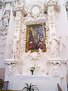 Interior view of St. Peter and St. Paul's Church<br /> Šv. apaštalų Petro ir Povilo bažnyčia, in Vilnius, Lithuania