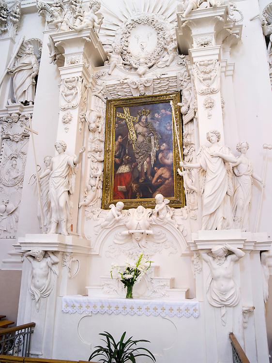 Interior view of St. Peter and St. Paul's Church<br /> &Scaron;v. apa&scaron;talų Petro ir Povilo bažnyčia, in Vilnius, Lithuania